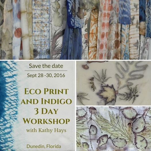Eco Print and Indigo workshop